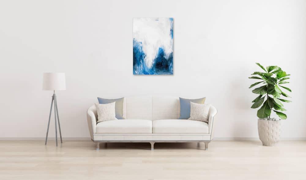 Ölgemälde auf Leinwand blaue Erscheinung wandbild