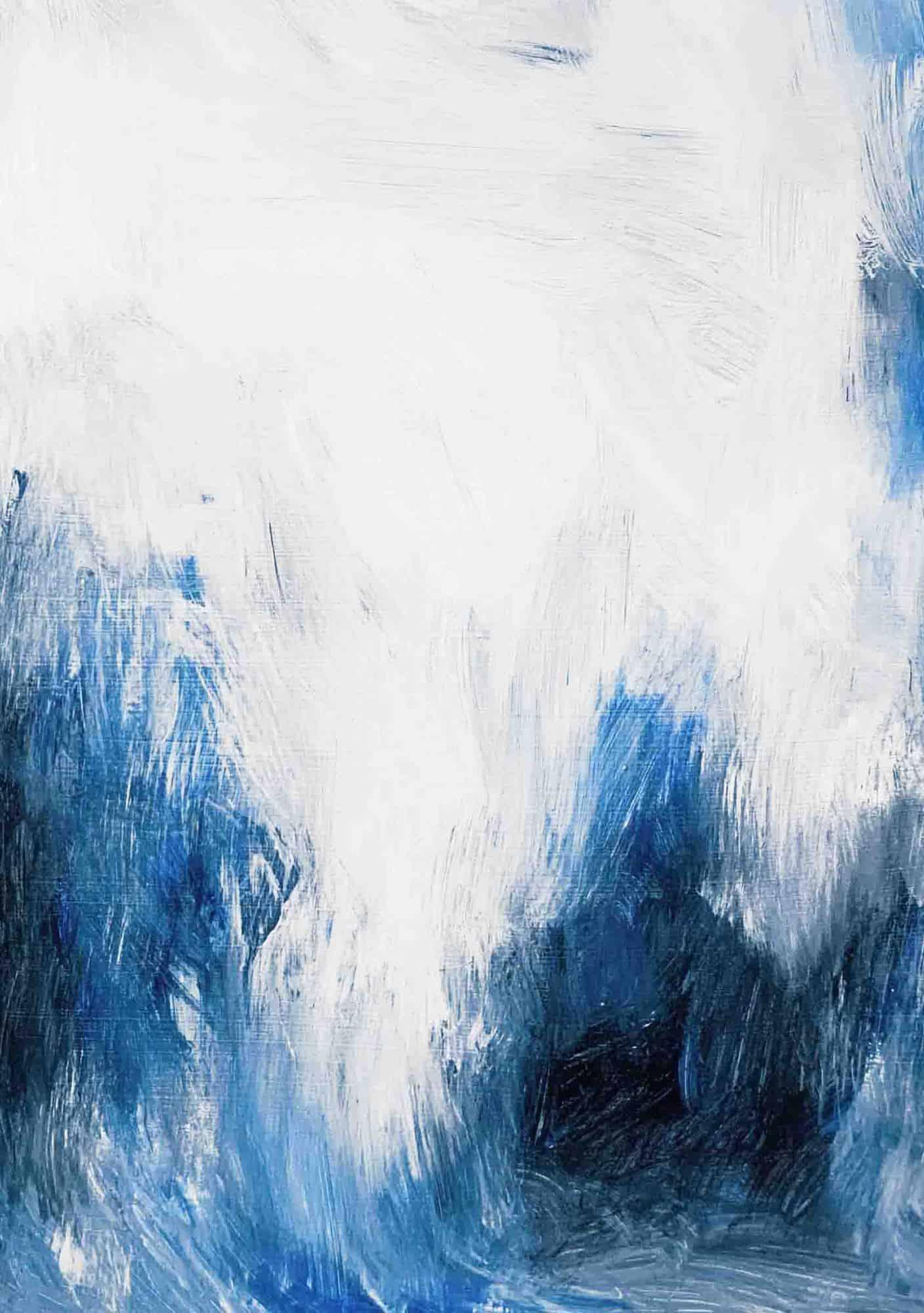 Ölgemälde auf Leinwand blaue Erscheinung