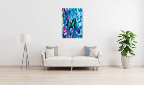 Ölgemälde auf Leinwand expressiv frisch wandbild