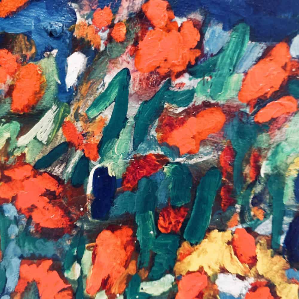 Ölgemälde auf Leinwand expressive Blüten