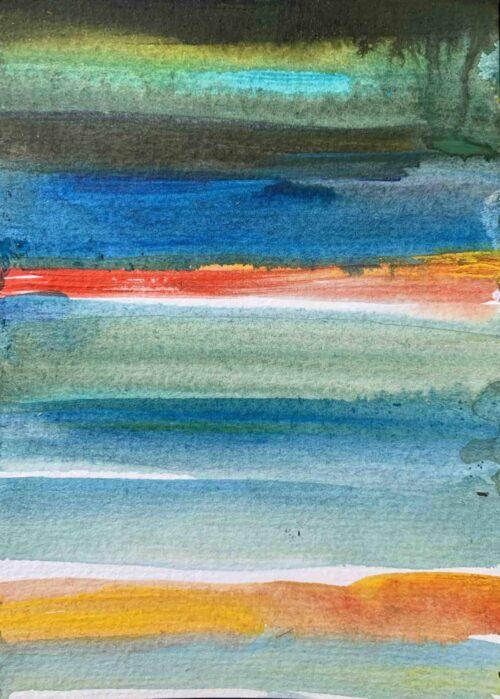 Ölgemälde auf Leinwand farbige Streifen