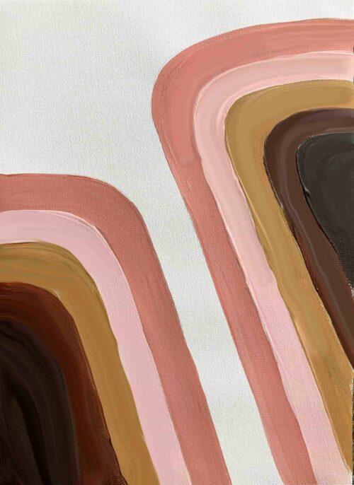 Ölgemälde auf Leinwand geometrisch abstrakte Formen