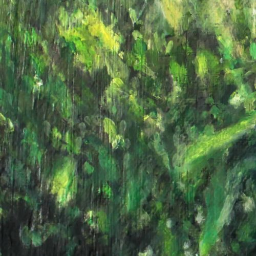 Ölgemälde auf Leinwand grüne Pflanzen Struktur
