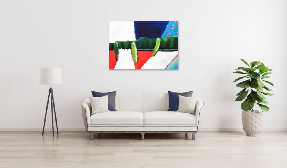 Ölgemälde auf Leinwand Landschaft mit Zypressen wandbild