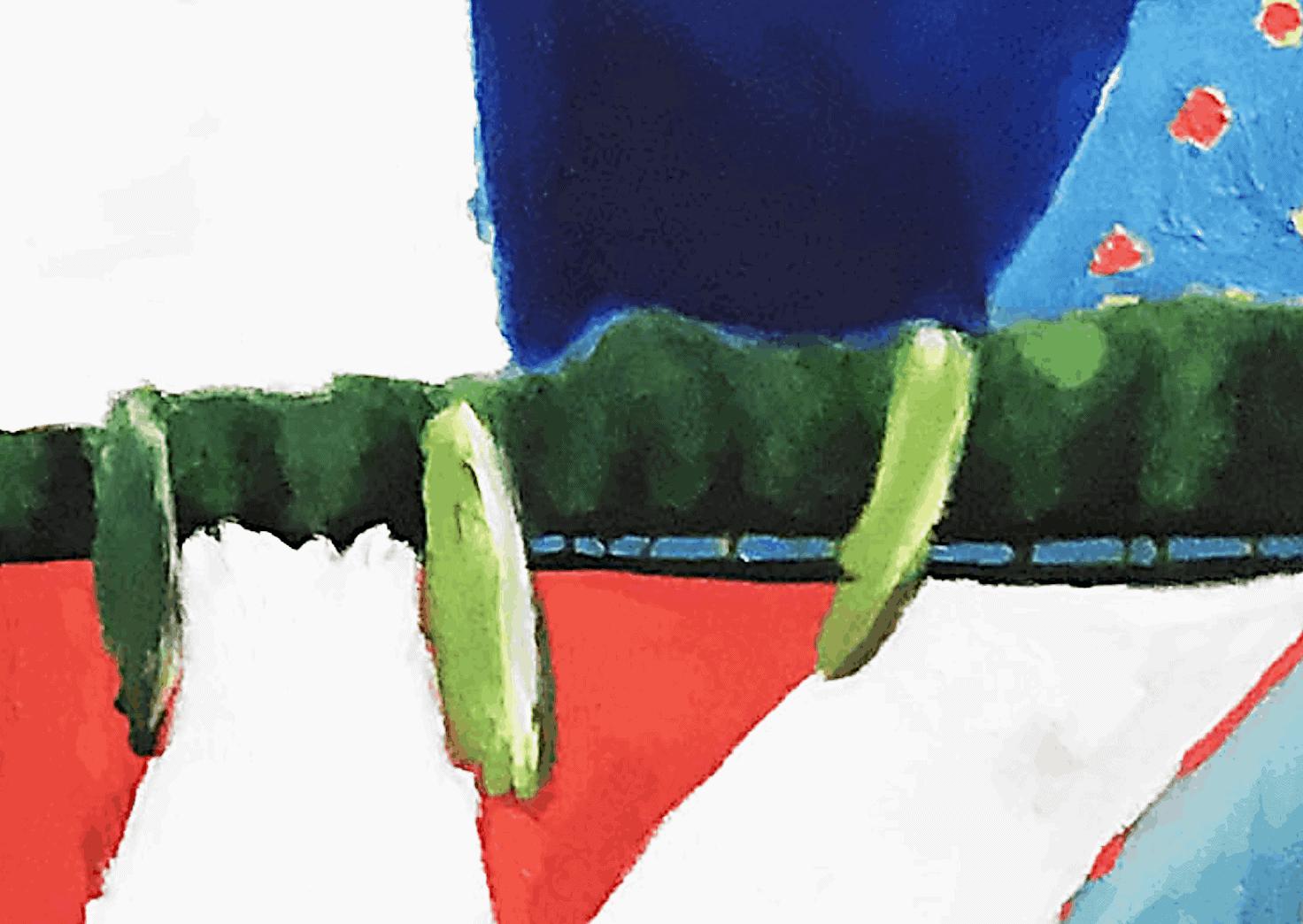 Ölgemälde auf Leinwand Landschaft mit Zypressen