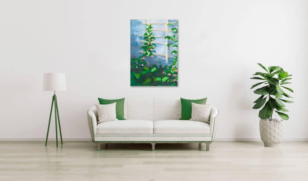 Ölgemälde auf Leinwand Pflanzen mit Blüten wandbild