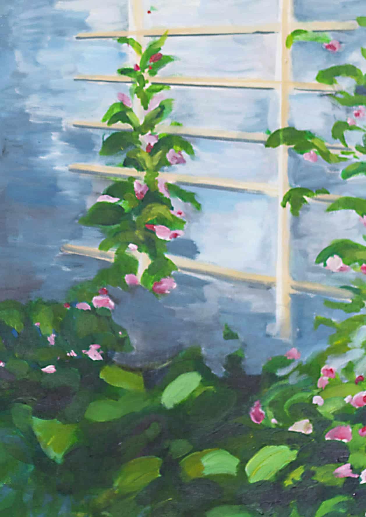 Ölgemälde auf Leinwand Pflanzen mit Blüten