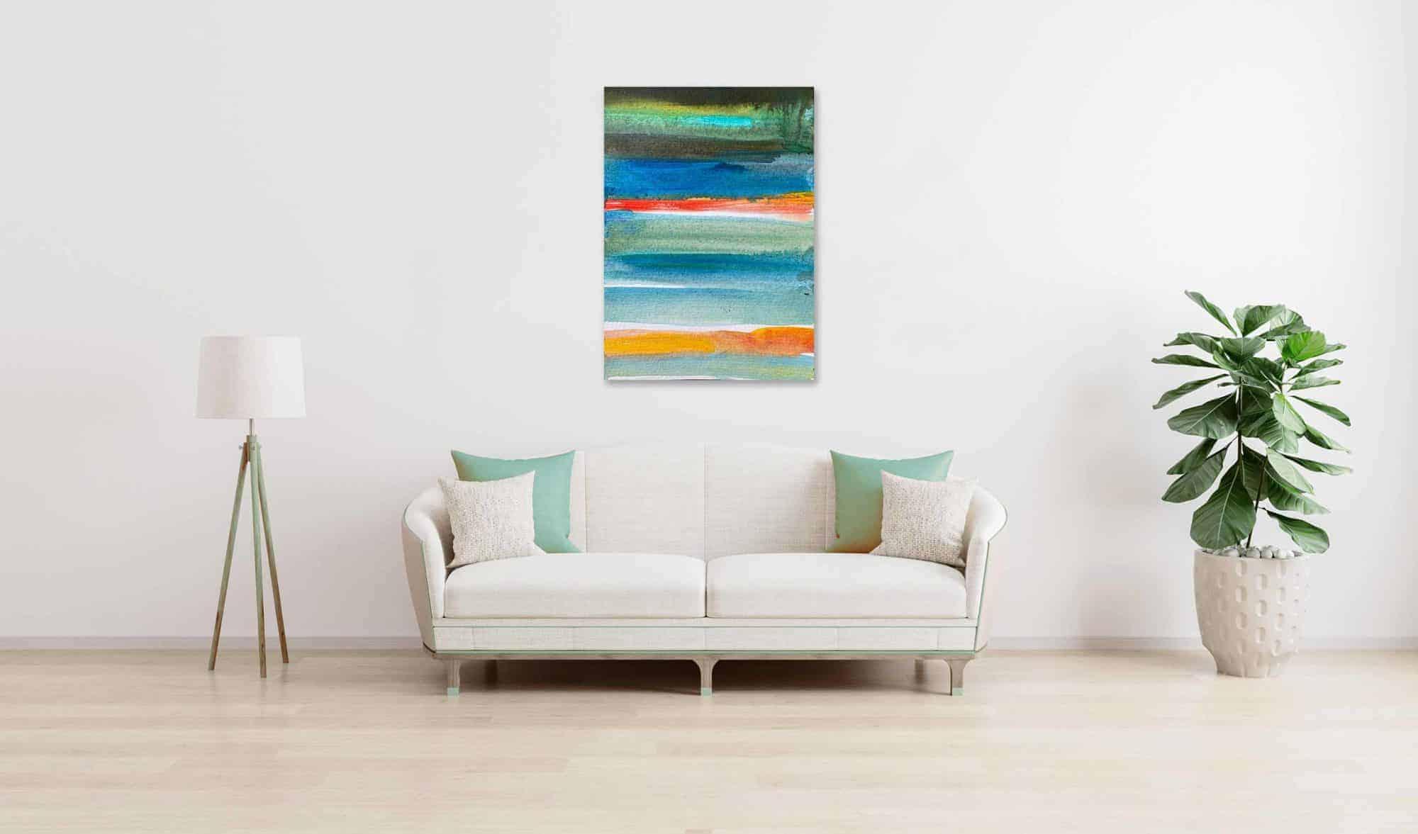 Ölgemälde auf Leinwand wandbild farbige Streifen