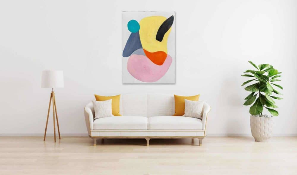 Ölgemälde auf Leinwand wandbild farbige Formen