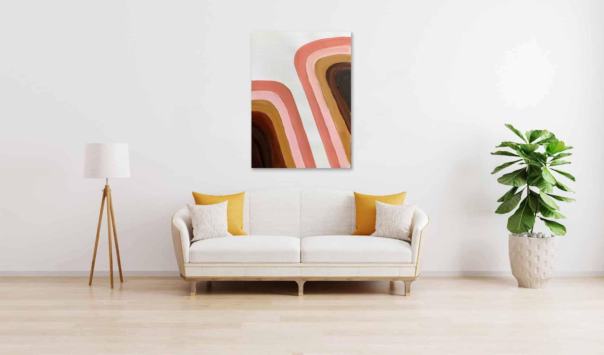 Ölgemälde auf Leinwand wandbild geometrisch abstrakte Formen