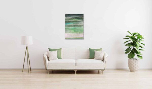 Ölgemälde auf Leinwand wandbild grüne Inspiration
