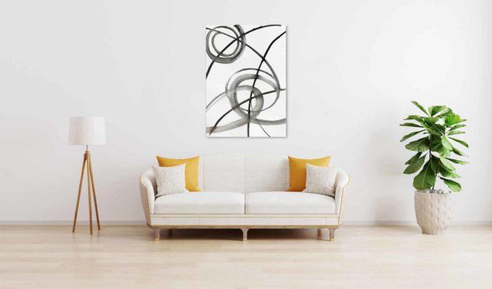 Ölgemälde auf Leinwand wandbild minimal abstrakte Formen