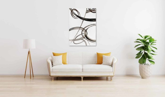 Ölgemälde auf Leinwand wandbild minimal abstrakte Form