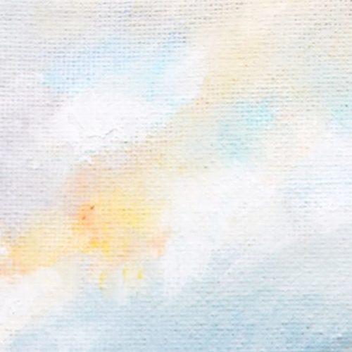 Ölgemälde auf Leinwand zarter Himmel mit Abendsonne