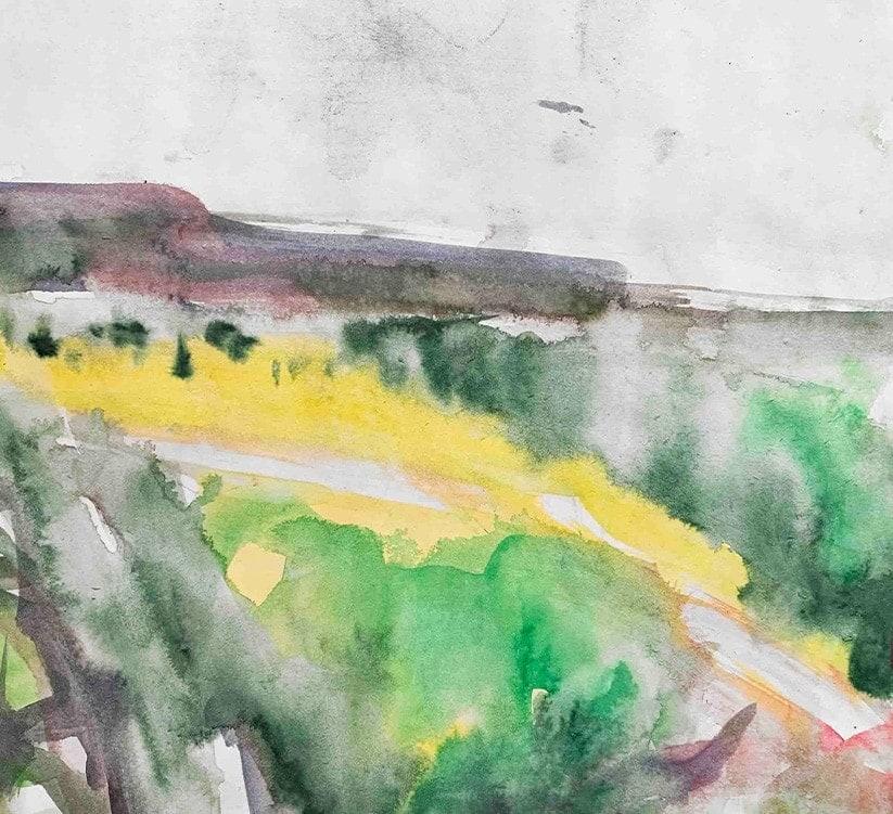 auftragsmalerei landschaft aquarell