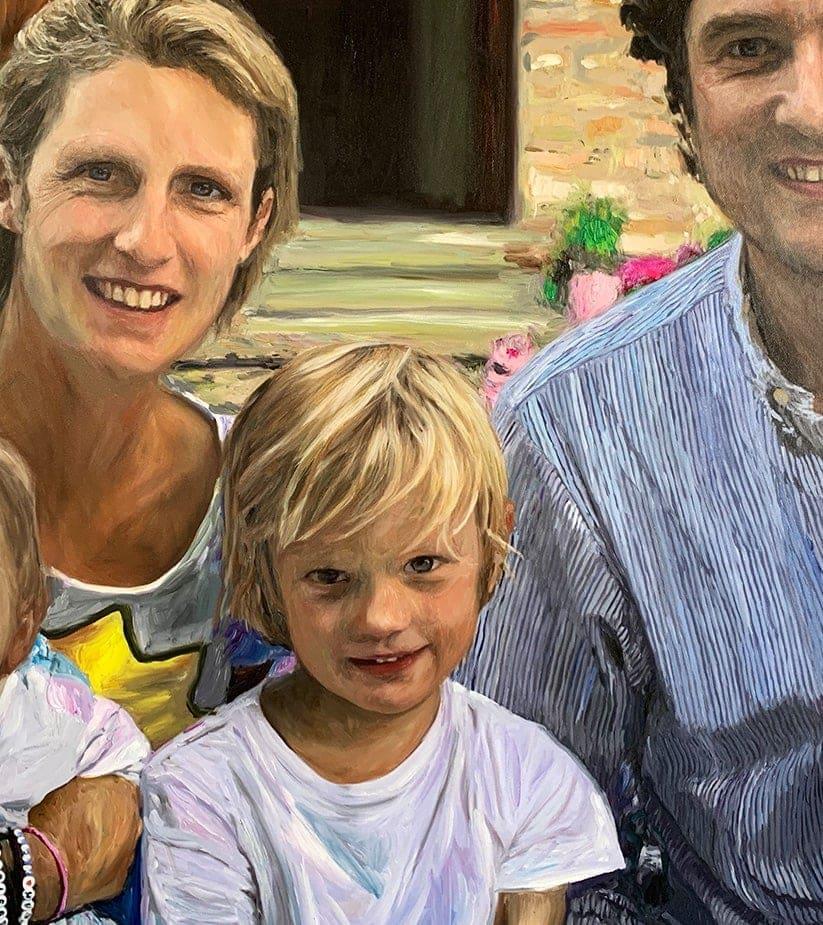 auftragsmalerei portrait familie geschenk geburtstag