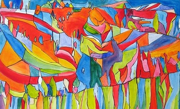 kuenstler nikolaus kriese farbe bild abstrakt