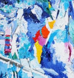 abstrakte kunstwerke auf leinwand