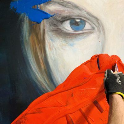 portraitmalerei abstrakt