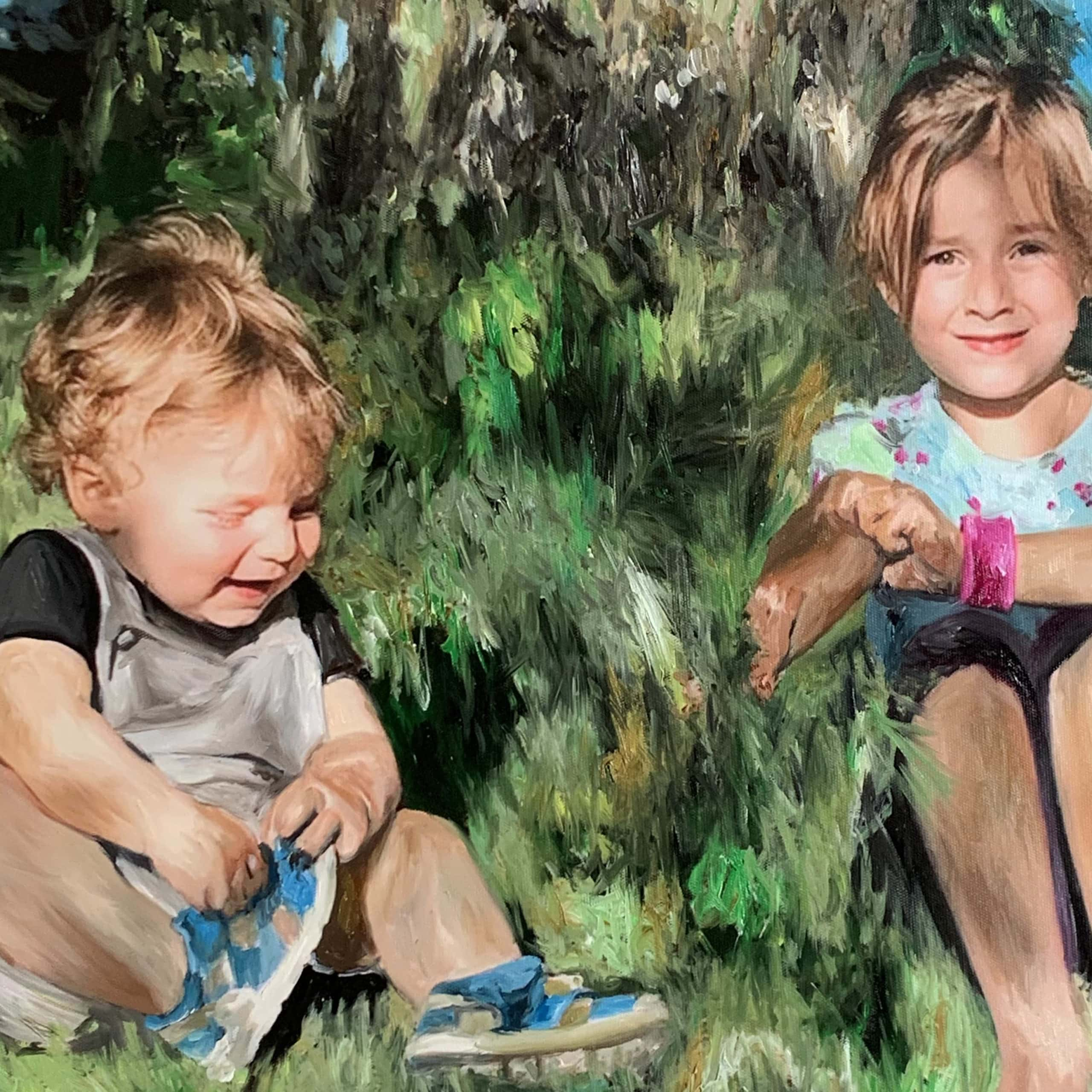 portraitmalerei kinder