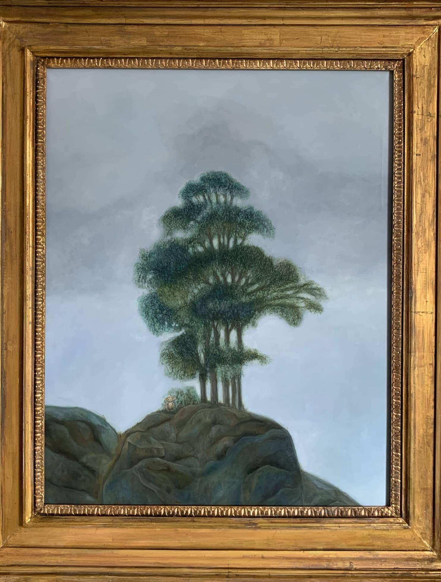 landschaftsmalerei bilder baum berg
