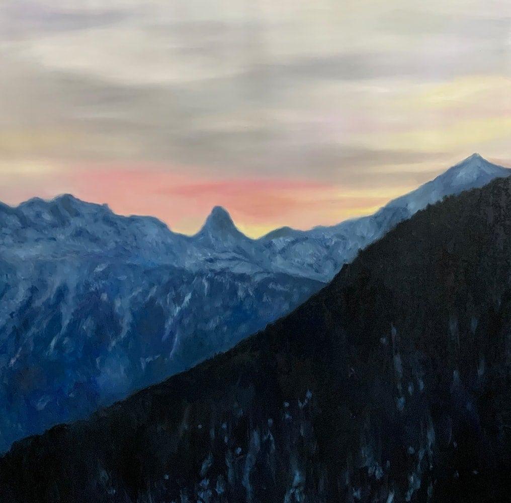 landschaftsmalerei bilder berge himmel