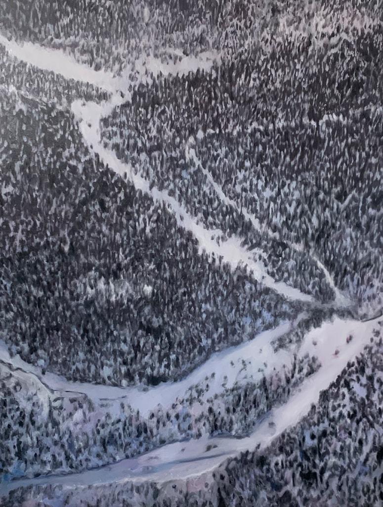 landschaftsmalerei bilder winter schnee berge