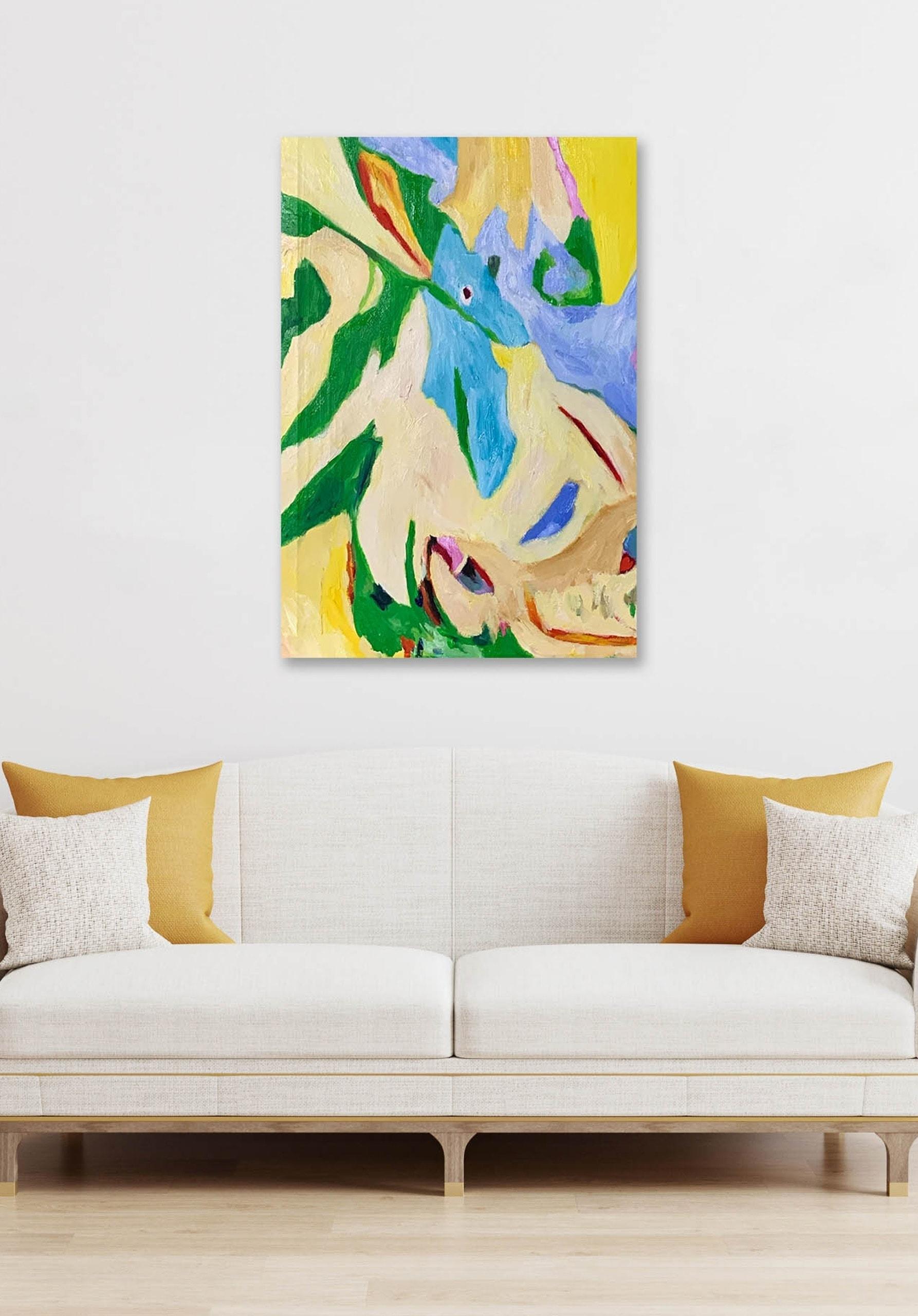 Abstract paintings expressiv wall art