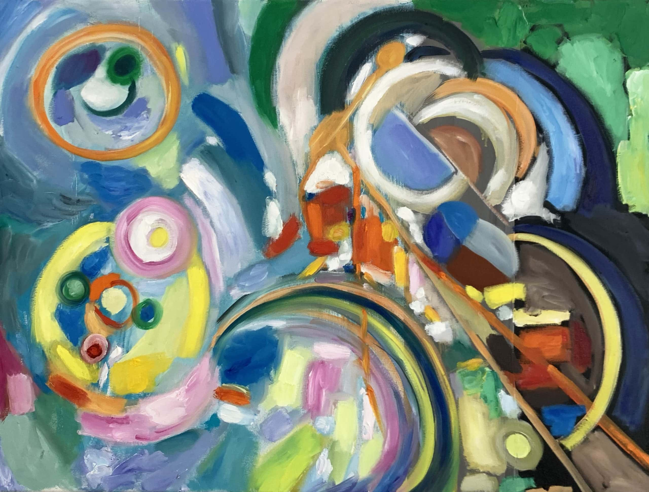 Abstract paintings modern artist circle