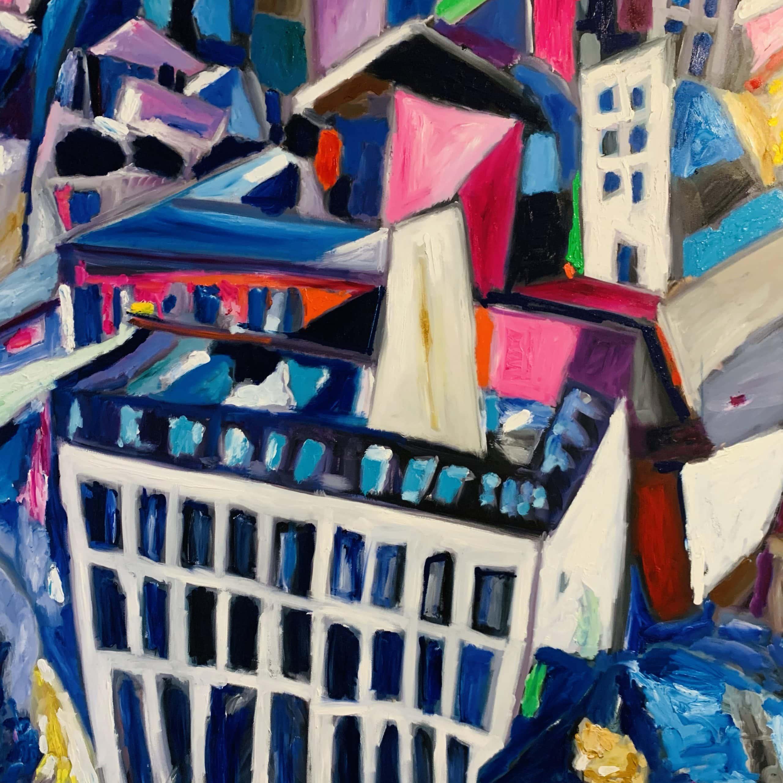 Acrylic paintings modern artwork city
