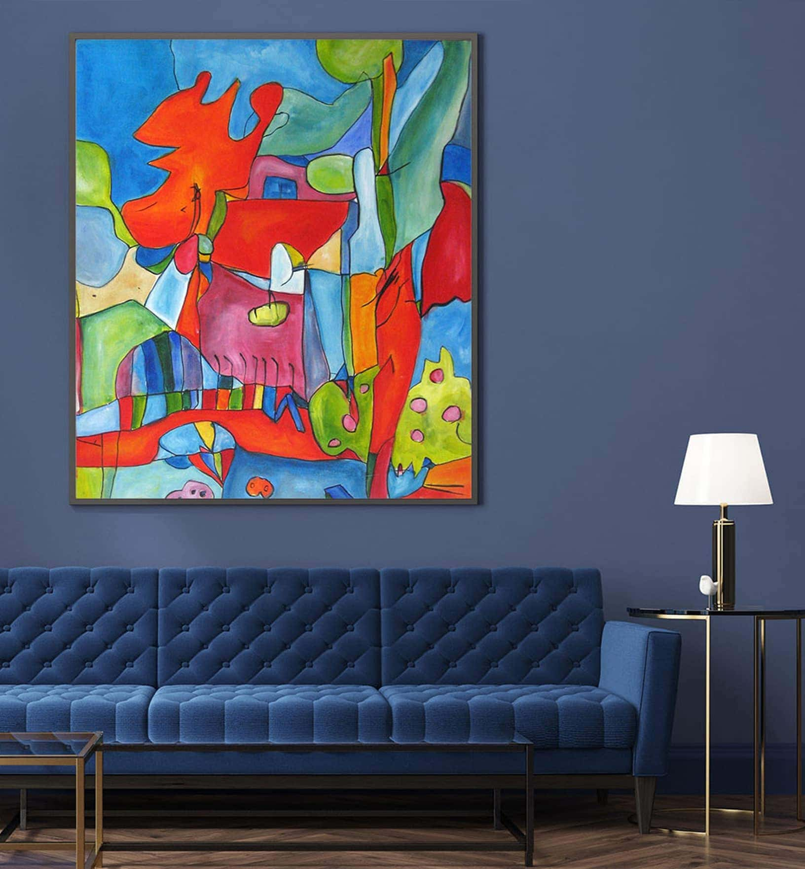Acrylic paintings on wall modern artwork