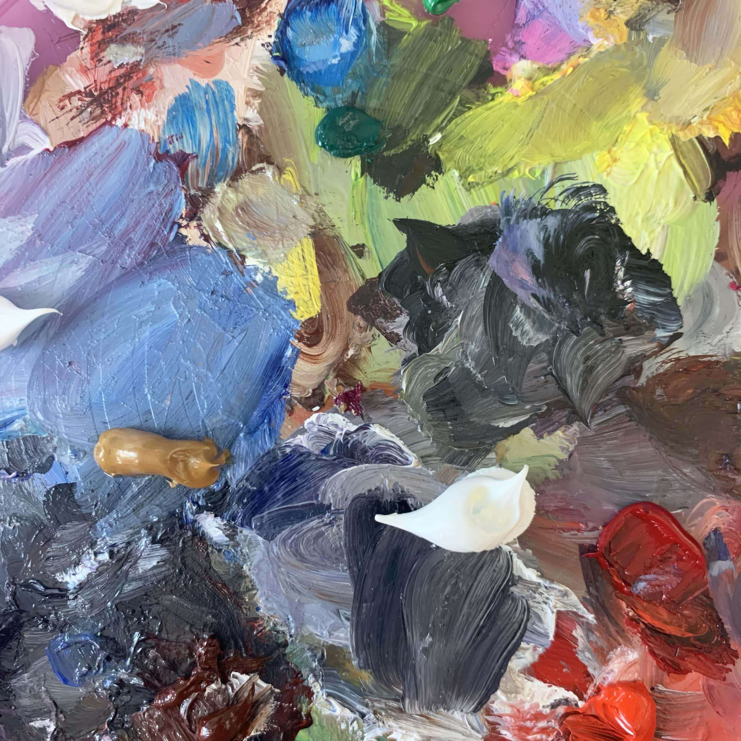 atelier künstler farben