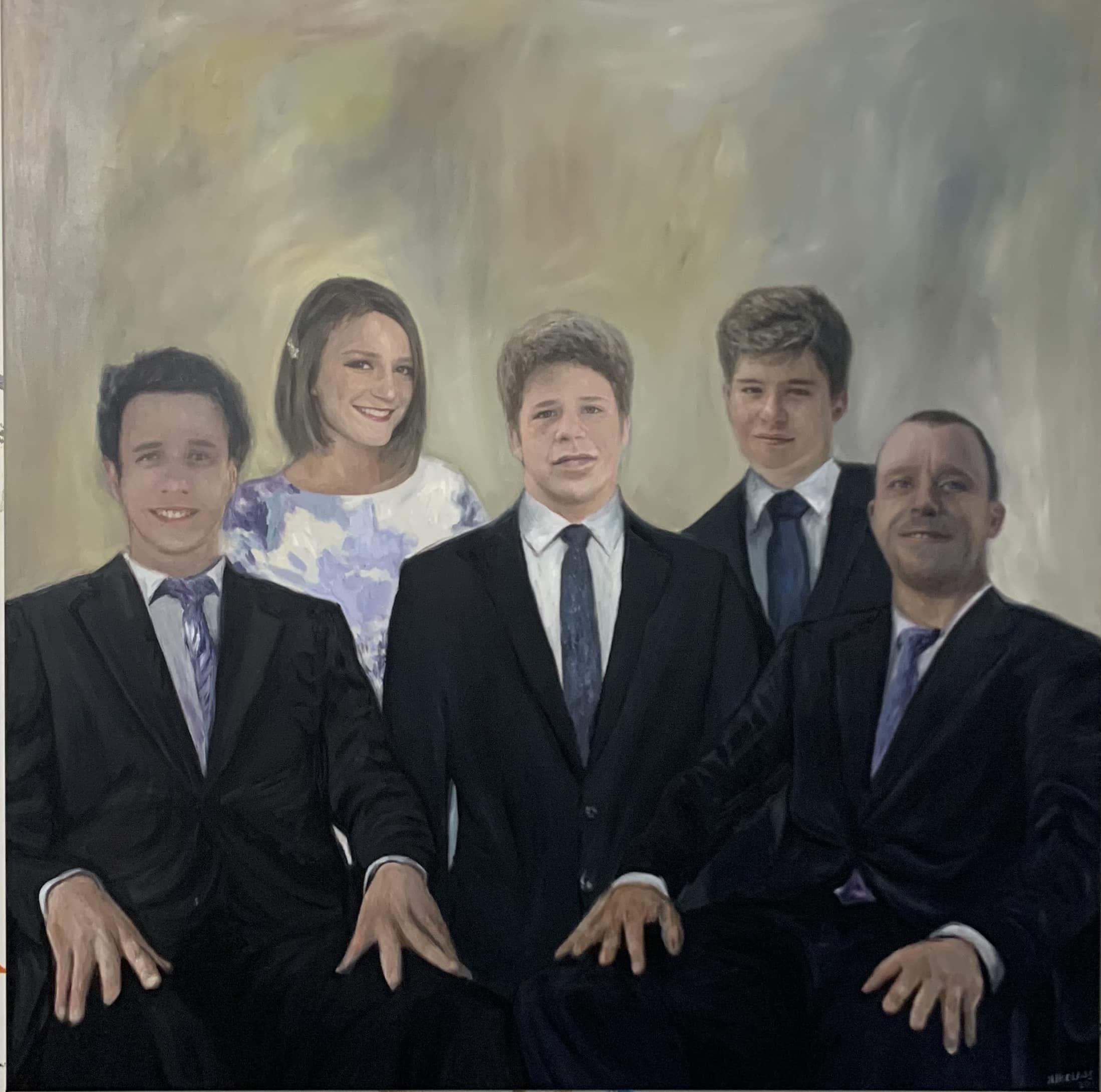 portrait painting familiy entrepeneur