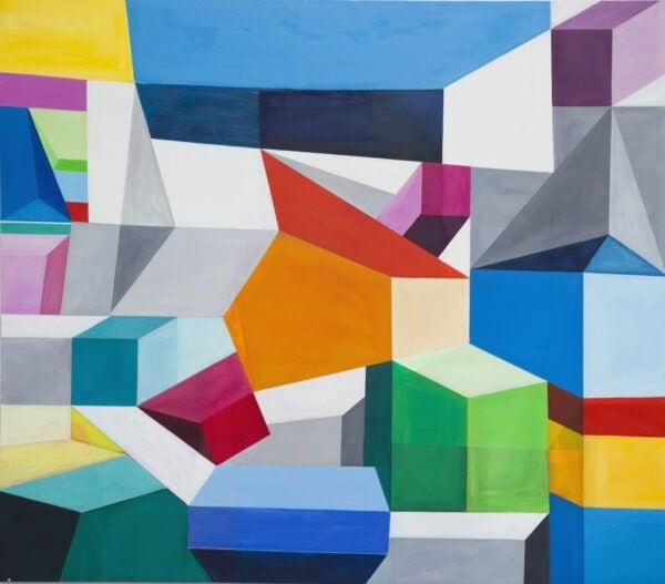 Ölgemälde Block 2 150 x 140 cm