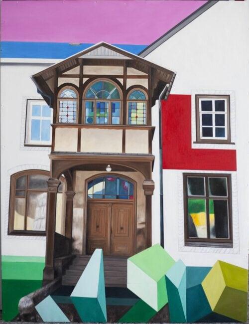 Ölgemälde Das alte Haus 130 x 100 cm