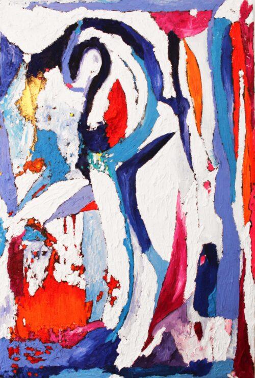 Ölgemälde Die Flamme der Königin 87 x 137 cm