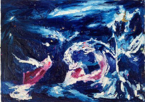 Ölgemälde Engel 50x70 cm
