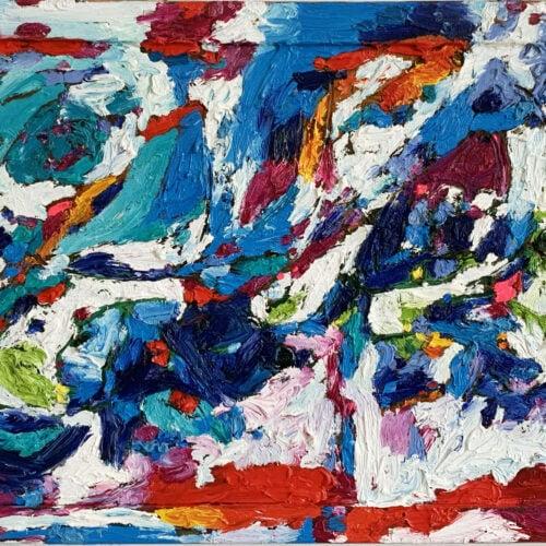 Ölgemälde Farbiges Spiel 64x43 cm