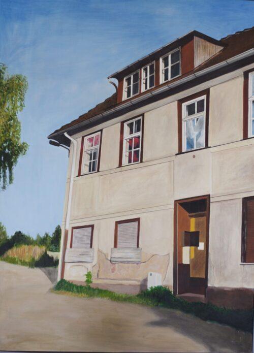 Ölgemälde Gärtnerei 140 x 110 cm