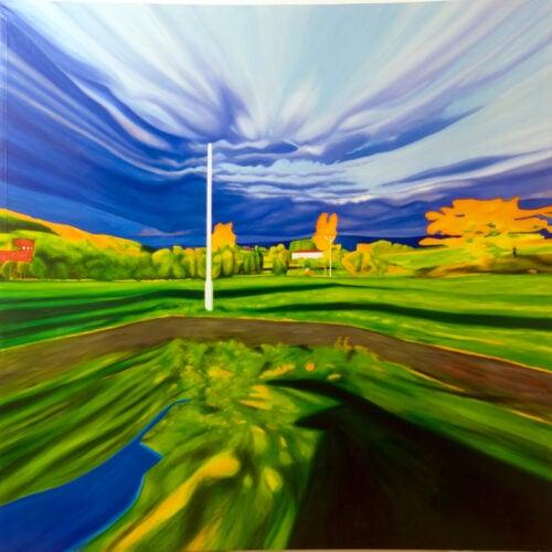 Ölgemälde Landschaft 200 x 200 cm