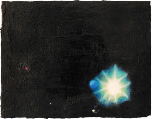 Ölgemälde Raum Eröffnung 30 x 24 cm