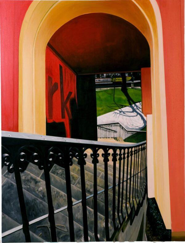 Ölgemälde Treppe 200 x 150 cm