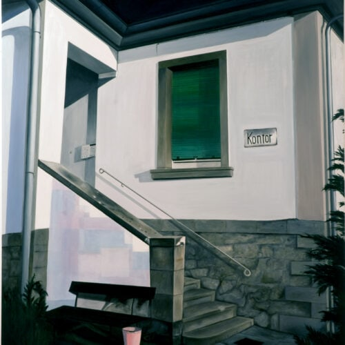 Ölgemälde Villa mit rosa Eimer 200 x 150 cm
