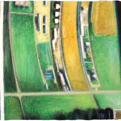 Ölgemälde Von oben unten 30 x 40 cm