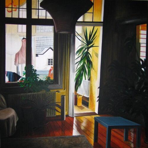 Ölgemälde Wohnraum 160 x 160 cm