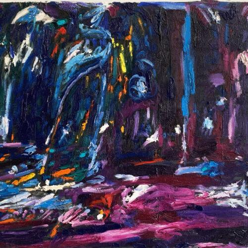 Ölgemälde Zauberwald 50x70 cm