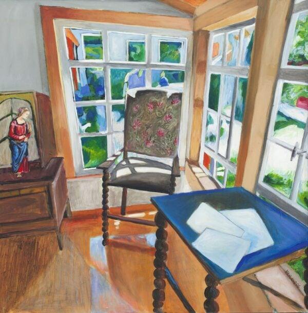 Acrylbild Sommerresidenz Fine Art Kunstdruck 50x50 cm